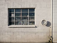 Garage Window (Nata Lukas) Tags: urban window garage eugene cinderblockwall