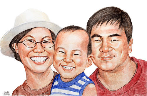 family portraits colourpencil 130308