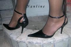 Giuseppe Di Dato 1          (58) (Kwnstantina) Tags: feet leather shoes pumps highheels legs fishnet sling strap heels stiletto nylon anklet giuseppe stileto stilleto blackpumps strapgiuseppedidato