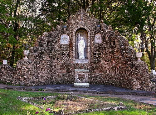 Black Madonna Shrine, in Eureka, Missouri, USA - grotto of Saint Joseph