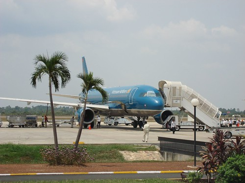 Vietnam Airlines at Siem Reap Cambodia airport