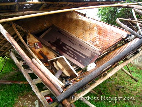 shattered hut