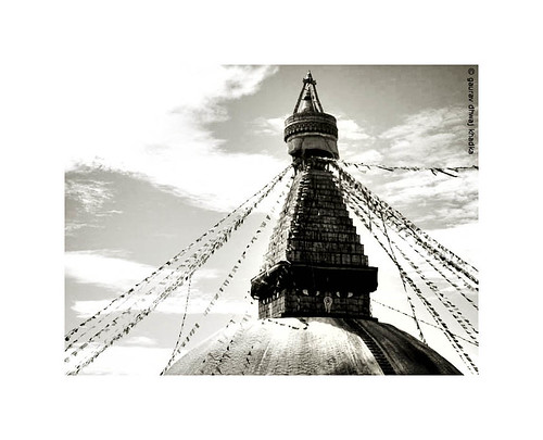 Bauddha Stupa by Gaurav Dhwaj Khadka