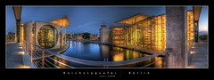 Reichstagsufer (d.r.i.p.) Tags: longexposure panorama berlin night germany deutschland lights nikon nightimages nacht widescreen drip reichstag mitte hdr hdri nachtaufnahme paullbehaus regierungsviertel spreebogen reichstagsufer photomatix marieelisabethldershaus d80 hdrpanorama hdratnight vertorama