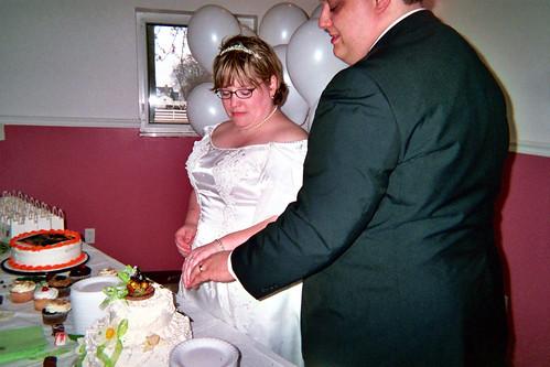 rings by cake