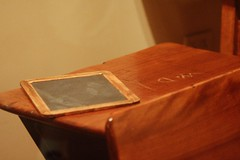 Walt Disney's school desk