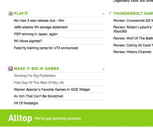 Make It Big In Games On Alltop