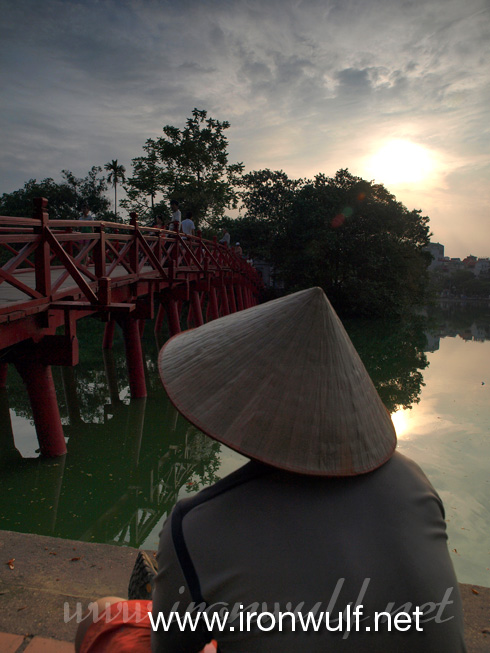 Sunset at Hoan Kiem Lake