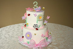 Garden themed birthday party (irresistibledesserts) Tags: birthday girl cake butterfly garden ladybug