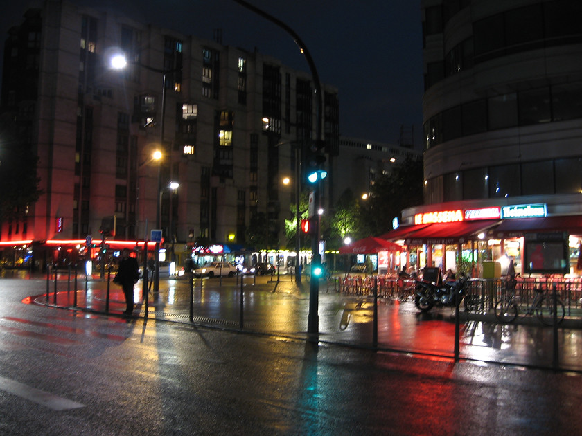 Wet Parisian street by moonlightbulb, on Flickr