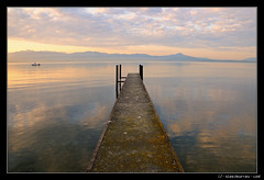 (xim-crow) Tags: morning lake beach water sunrise landscape schweiz switzerland boat nikon eau suisse swiss lac cte bateau paysage lman plage 18200 ponton matin vaud d300 levdesoleil laclman romandie perroy lacte genevalunch ximcrow