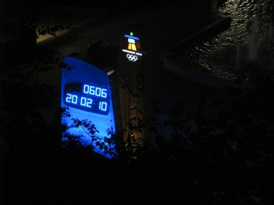 2010 Winter Olympics Countdown Clock, Vancouver BC