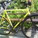 Yellow panasonic fixie in Tokyo