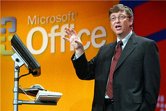 Bill Gates with Microsoft Office