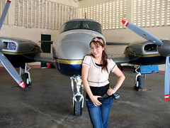 Posing with the Piper (sweetsexything) Tags: airplane jenny hangar mactan twinengine pressurized cebusugbo sweetsexything pipernavajo 882008 jairaviation generalaviationarea miniliner straightnavajo