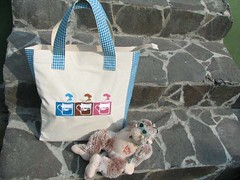 blue coffee shopping bag --sold-- (yuni) (sixteen16million) Tags: bag tote shoppingbag 16million