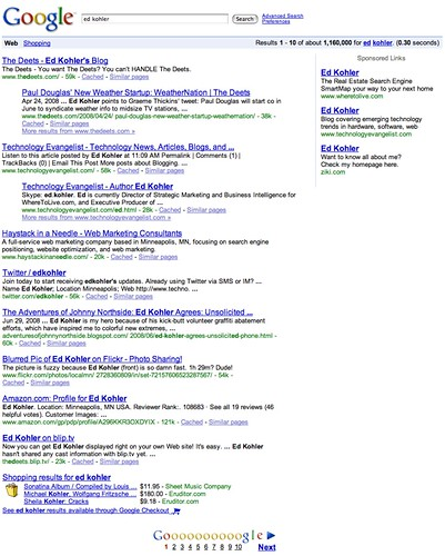 Ed Kohler on Google