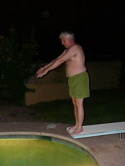 dad prepping for a cannonball (alist) Tags: family move alist robison joshuagreen alicerobison ajrobison