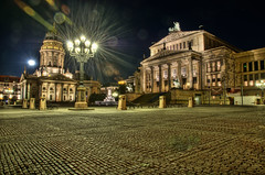 Gendarmenmarkt, Berlin, Germany (Xindaan) Tags: city longexposure light fab moon building berlin church architecture night buildings germany geotagged deutschland mond nikon bravo angle cathedral nacht wide flare getty architektur nikkor mitte soe gebude hdr gettyimages manfrotto langzeitbelichtung d300 berlinmitte gendarmenmarkt schauspielhaus deutscherdom franzsischerdom nightimage konzerthaus firstquality photomatix cotcmostinteresting germancathedral 7xp golddragon frenchcathedral abigfave 055mf4 impressedbeauty infinestyle ysplix theunforgettablepictures goldstaraward 1685mm 1685mmf3556gvr afs1685mm 466mg schillderdenkmal lastmpheartawards
