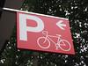Hinweisschild für einen Fahrradparkplatz