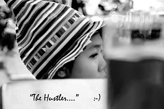 """THE HUSTLER... ""               :-) (Maxsimus) Tags: life street beer fun thailand nikon close bangkok sigma thai nana animated hustler sales barscene d300 photoquebec maxsimus"
