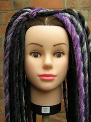 The Purp (can you tell I'm a crime show addict?) (bad bad magpie) Tags: dreadlocks diy purple handmade gothic gray goth craft dreads fakehair fakedreads synthdreads syntheticdreads gothicculture