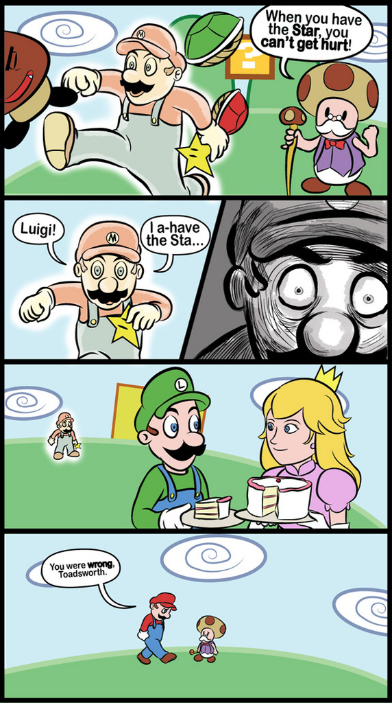 Toadsworth: When You Have The Star, You Can't Get Hurt! [COMIC]