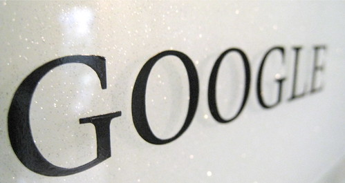 Google logo, Black and White