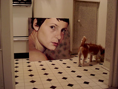 in kitchen (lizzconley) Tags: portrait dog art painting explore oil skeletor explored mirjan