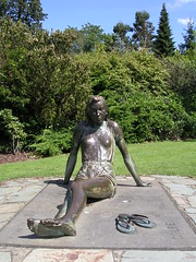 Barefoot in the park. (davidezartz) Tags: park uk greatbritain pink blue trees light england sky sculpture brown sun white black green film nature girl face grass sunshine yellow statue bronze clouds concrete grey eyes nikon comedy shadows earth sandals hill tan loveit tiles american barefoot figure flipflops 1967 suntan barefeet janefonda title seated bushes distillery patina tanned bronzed robertredford e3100 blueribbonwinner neilsimon nikone3100 barefootinthepark nikonstunninggallery theloveshack platinumphoto ysplix theunforgettablepictures theperfectphotographer goldstaraward flickrestrellas quarzoespecial fanflickrtastic rubyphotographer gununeniyisithebestofday estremita dragondaggerphoto notthefilm halbwallis