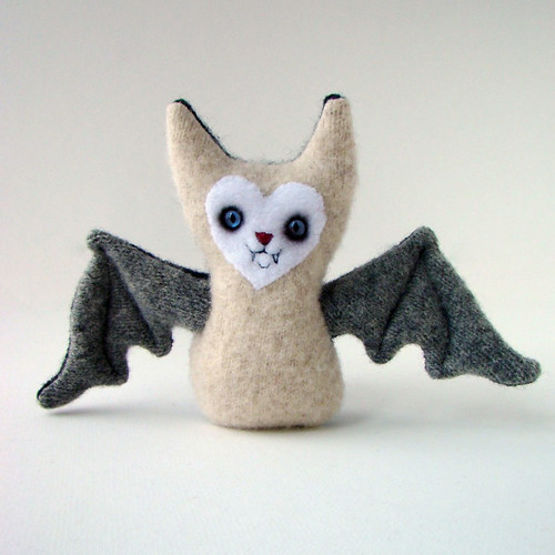 Cream and gray baby bat