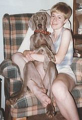 Amy and Avery, summer 1997