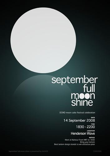 septemberfullmoonshine poster design