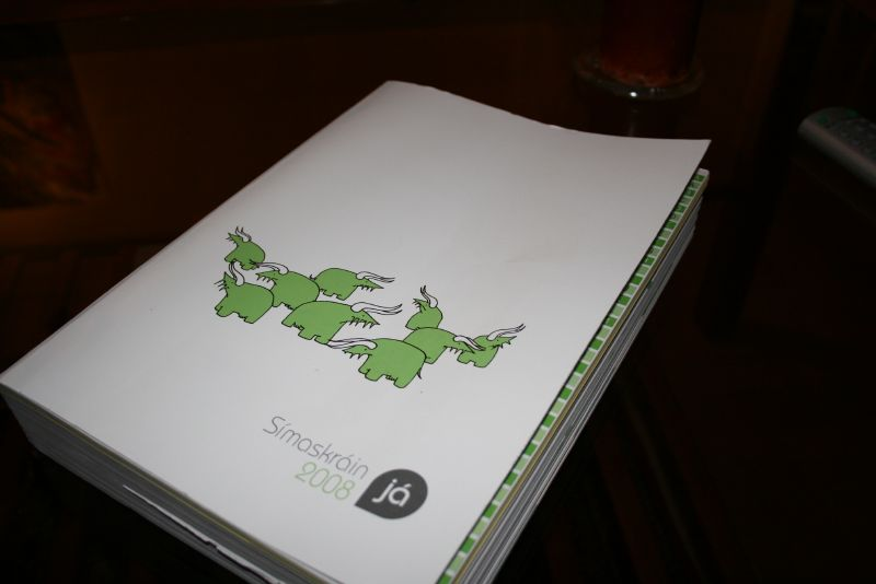 MY ICELAND: The Phone Book