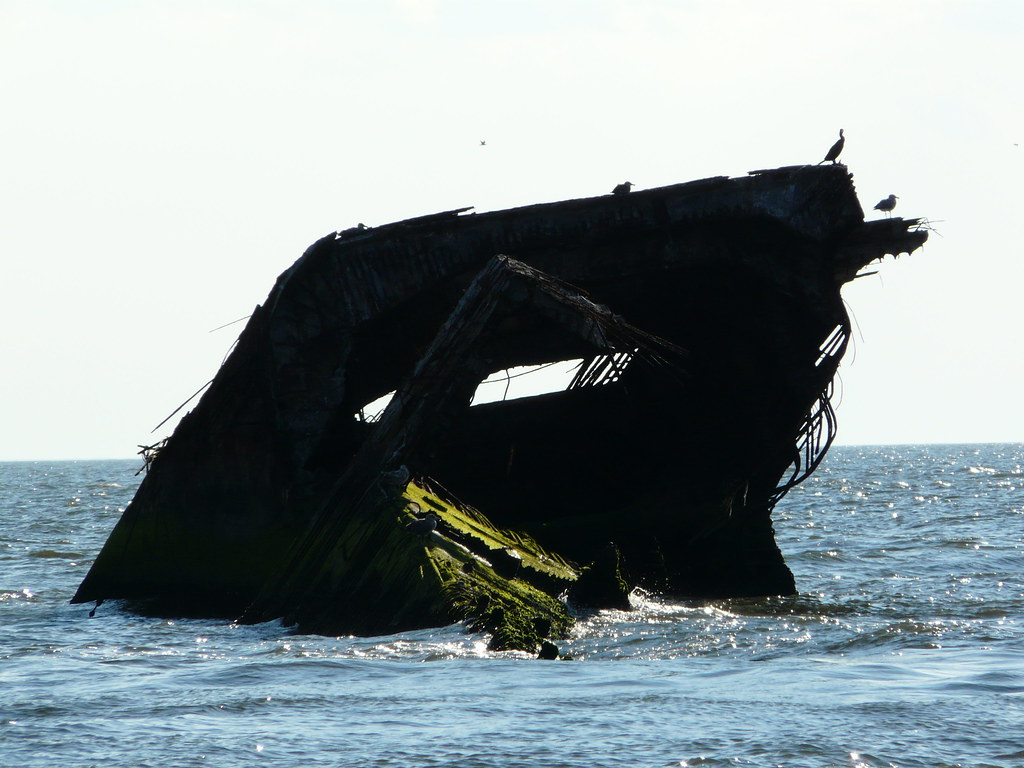 The Concrete Ship - The wreckage of SS Atlantus (commissioned in 1919, sunk in 1926)
