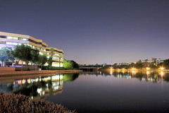 Centurion Lake - HDR (Danie Swanepoel) Tags: africa sky lake reflection canon lights evening long exposure waterfront south afrika pretoria hdr danie centurion gauteng 1755 suid swanepoel 400d