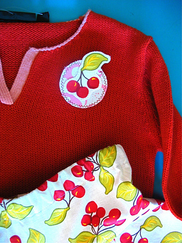 Cherry sweater pin