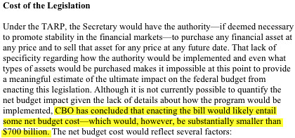 CBO statement.