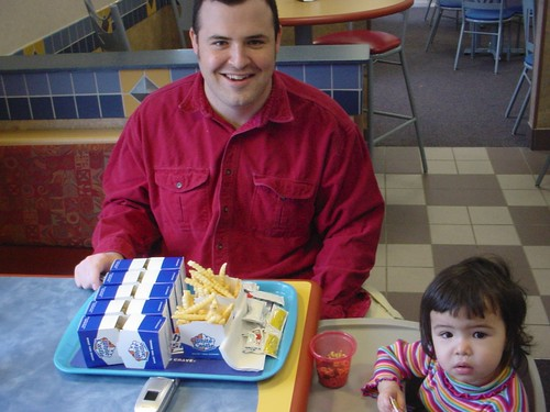 Mina and Papa at White Castle