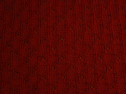 Cheri's red blanket pattern