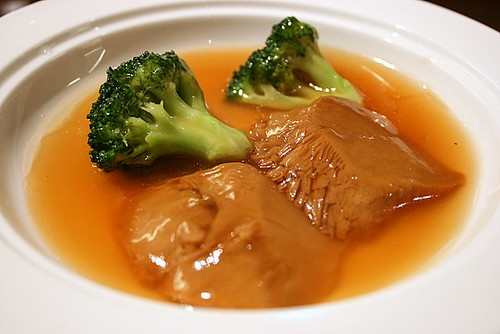 Braised Bai Ling Mushroom with Broccoli