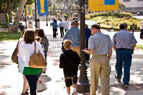 People walking at UCLA
