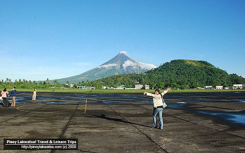 Me and Mt. Mayon at the Legazpi Airport