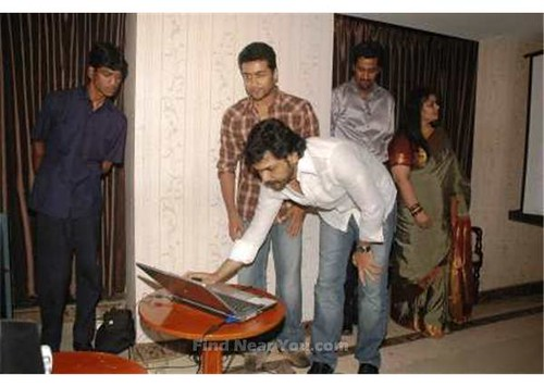 Surya and Karthi at the Inauguration 5