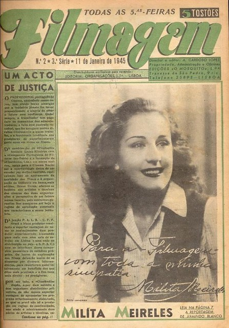 Filmagem, No. 2, January 11 1945, Milita Meireles