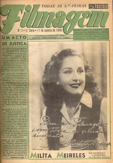 Filmagem, No. 2, January 11 1945, Milita Meireles