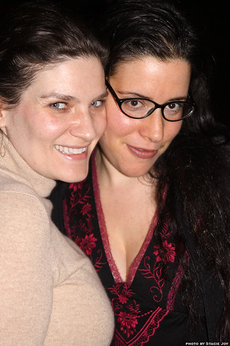 Sloane Miller and Rachel Kramer Bussel at True Sex Confessions Night at In The Flesh Reading Series