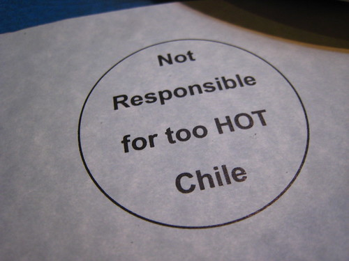 Unfortunately, Tia Sophia's chile was not hot.