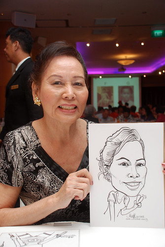 Caricature live sketching for Christ Methodist Church Christmas Celebration - 8b