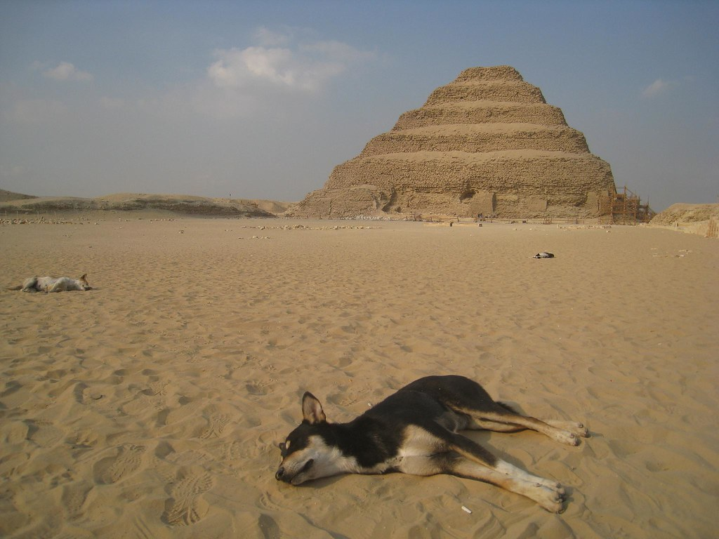 photo essay pyramids temples of go backpacking as the sun sets dogs sleep amidst the oldest pyramids in